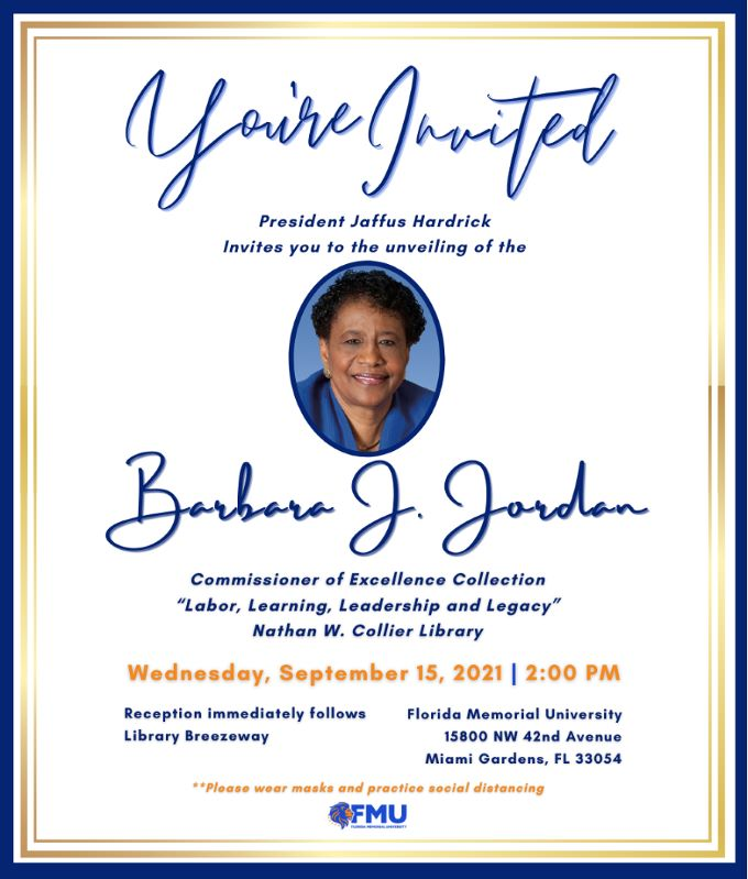 Barbara Jordan Invite